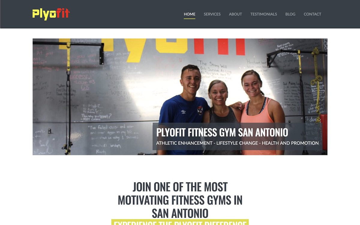 San Antonio Fitness website